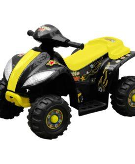 Børn quad cykel elektrisk gul og sort