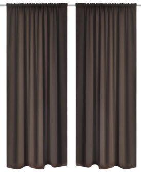 2 stk Brun Blackout Gardiner 135 x 245 cm