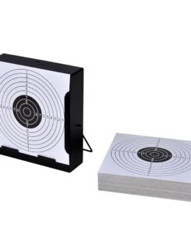14 cm Firkantet Målskive Kuglefang + 100 Papirmål