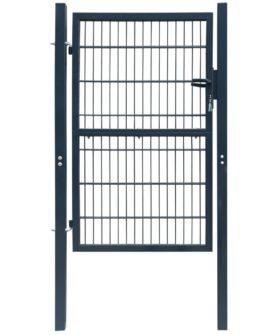 2D havelåge (enkelt), antracitgrå, 106×190 cm